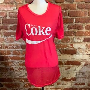 Coca Cola Graphic tee red burnout USL